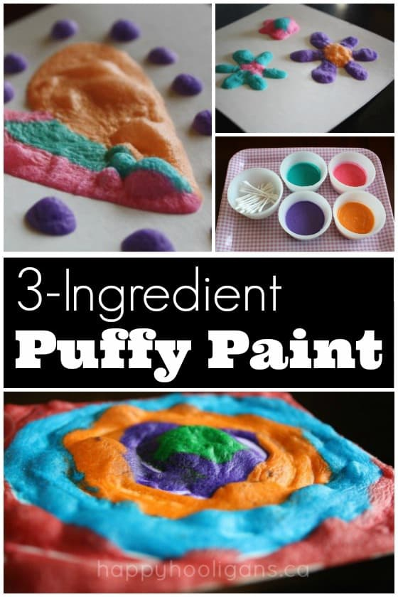 Quick And Easy 3 Ingredient Puffy Paint