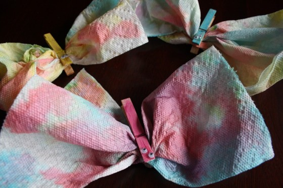 Paper Towel Butterfly Fridge Magnets For Toddlers and Preschoolers to make