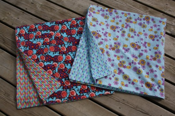 reversible receiving blankets