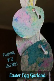 Marbleized Easter Egg Garland – a Fun and Easy Easter Craft for Kids