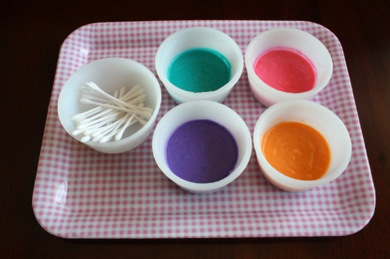 homemade puffy paint - self rising flour, salt, water