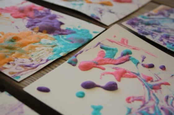 puffy paint art with homemade puffy paint
