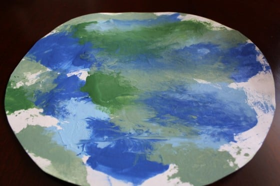earth craft painted by toddler