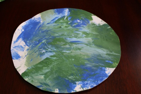 smoosh painting for earth day