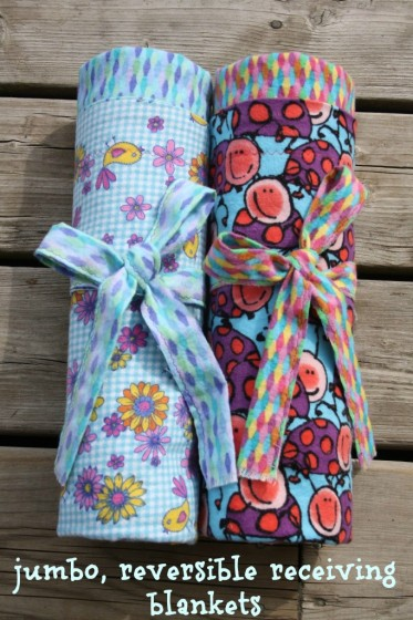 how to make a reversible receiving blanket