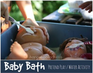 Doll Bath Activity for Toddlers