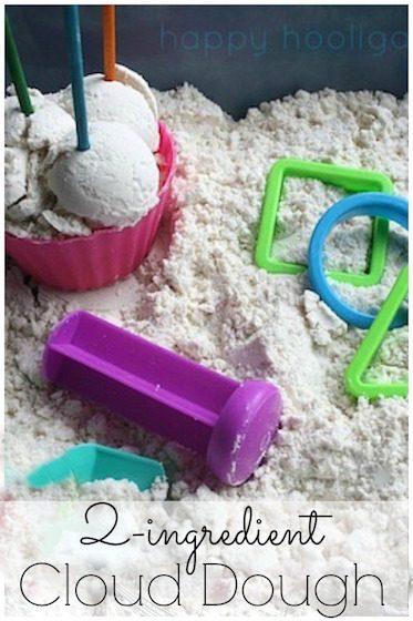 Homemade 2-Ingredient Cloud Dough - Happy Hooligans