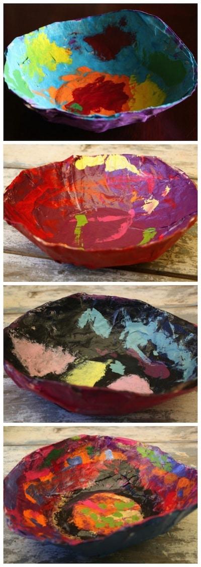 4 bowls - paper mache ideas