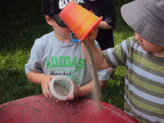 muddy play - more fun in our mobile mud-pit