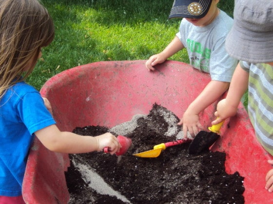 Mud Pit - backyard mud play