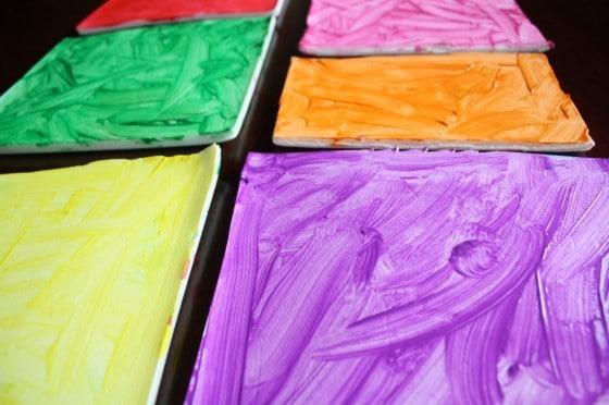 Kids' Mosaic Art Activity with Styrofoam Produce Trays