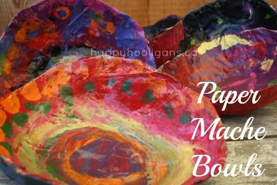 Paper Mache Bowls for Toddlers to Make