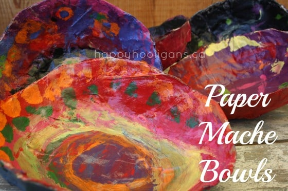 paper mache bowls & Paper Mache Bowls - a Gift for Kids to Make and Give - Happy Hooligans