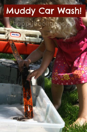 muddy car wash - an awesome backyard muddy, water activity for kids