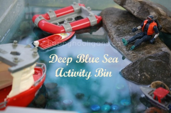 Deep Blue Sea Activity Bin - Happy Hooligans