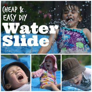 How to make a DIY water slide for your backyard