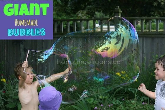 Giant Homemade Bubbles Recipe - Happy Hooligans