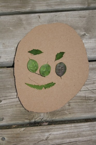 nature faces - garden art