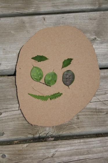 nature faces - garden art