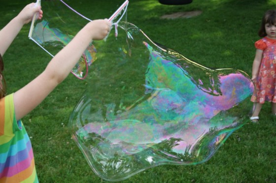 This Homemade Bubble Recipe Makes the Best Giant Bubbles Ever!