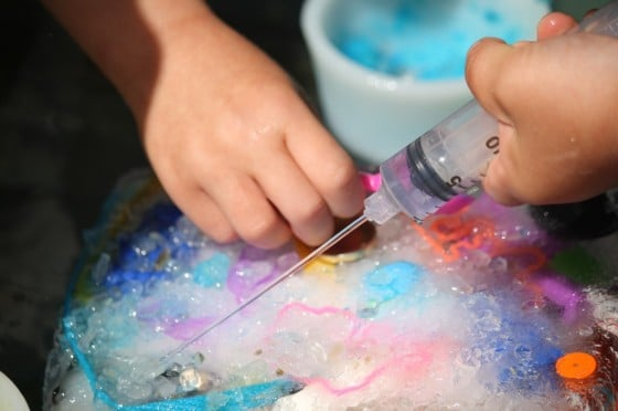 Ice Age Bin Awesome Salt Ice And Water Experiment For Kids