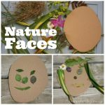 Nature Faces – Self-Portrait Art for Preschoolers using Items Found in Nature