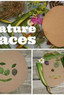 Self Portrait Art for Preschoolers, using items found in nature