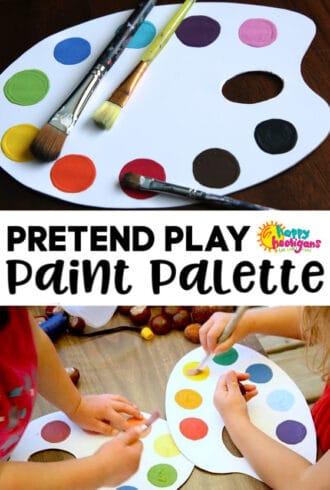 DIY pretend paint palette