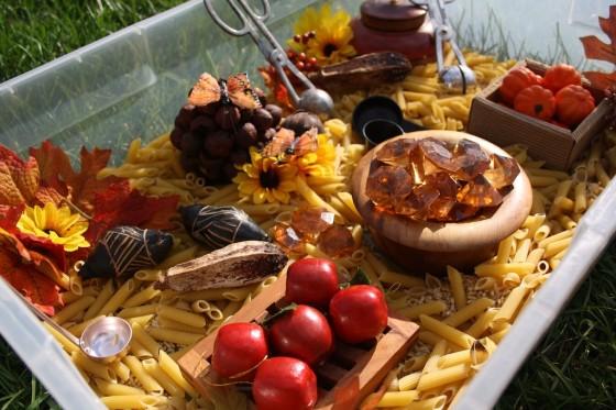 fall sensory bin materials