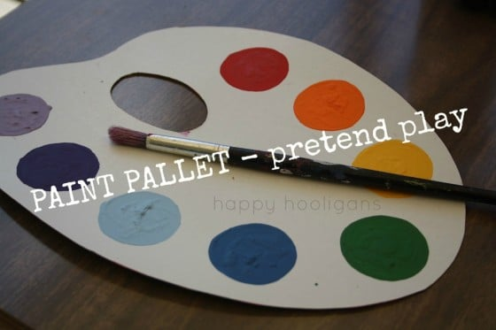 pretend paint palettes for toddlers and preschoolers