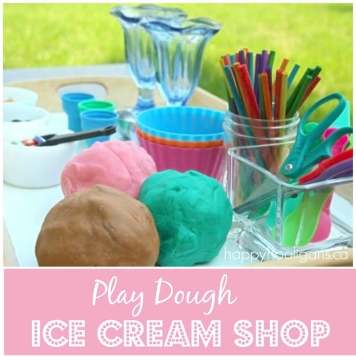 play dough ice cream shop pretend play