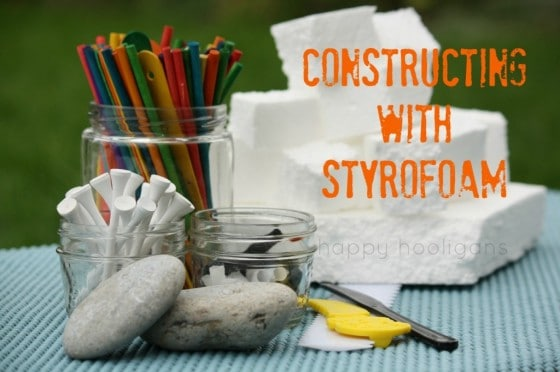 constructing with styrofoam.