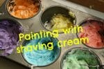Painting with Shaving Cream: Outdoor Art for Kids