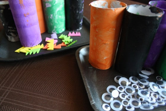 painted tp rolls for monster craft