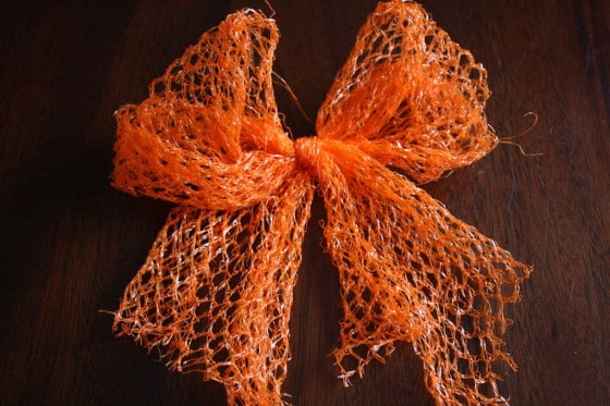 bow made from produce mesh