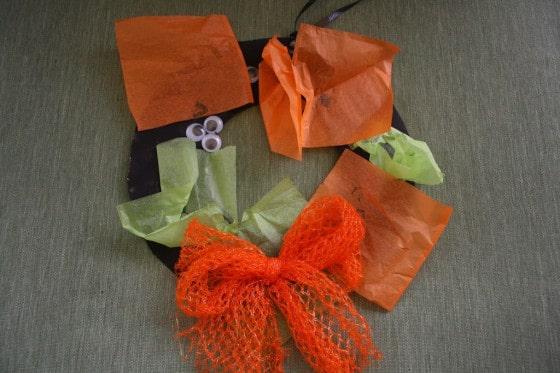 black and orange wreath