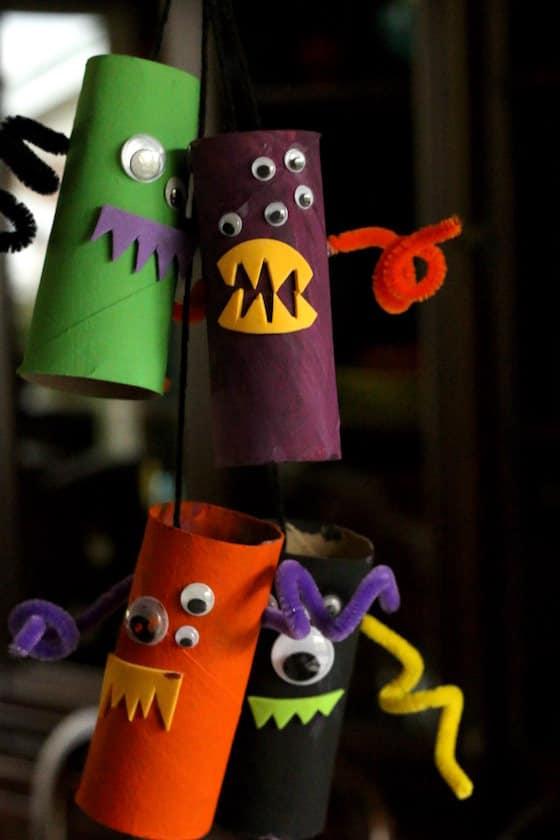 Cardboard Roll Monsters