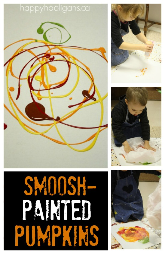 Smoosh-Painted Pumpkins - Happy Hooligans