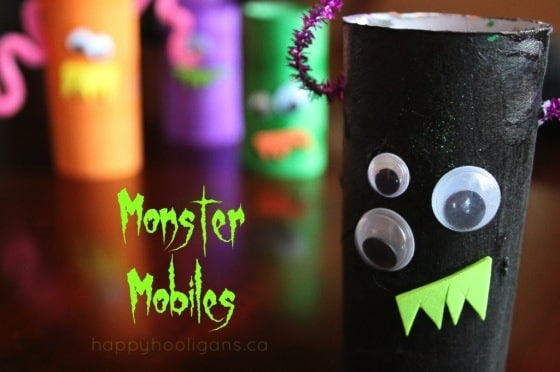 toilet roll monster mobile