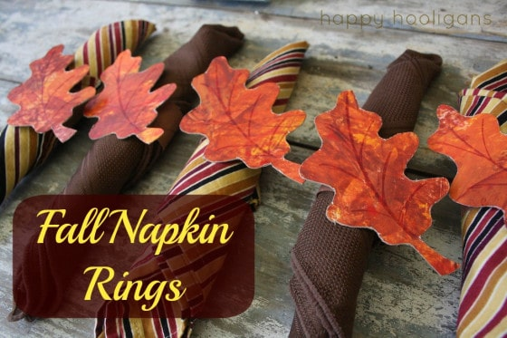 Homemade Fall Napkin Rings