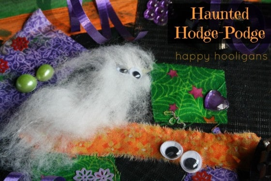 Haunted Hodge-Podge Halloween Art Collage