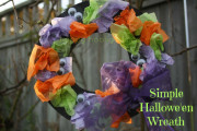 Easy halloween wreath for kids to make