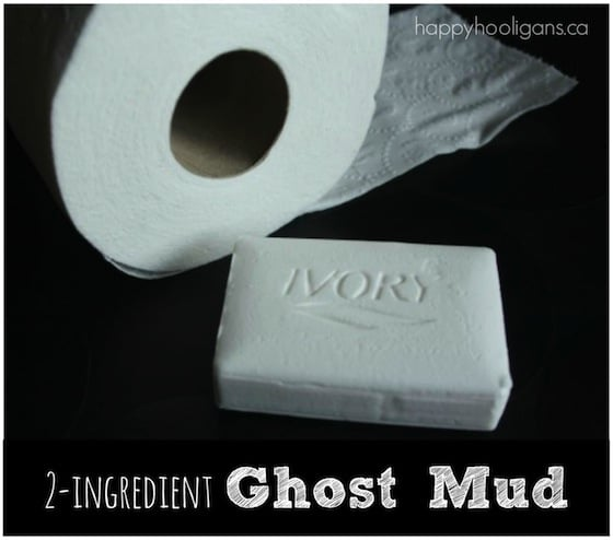 Ghost Mud Sensory Dough with Toilet Paper, Soap and Water