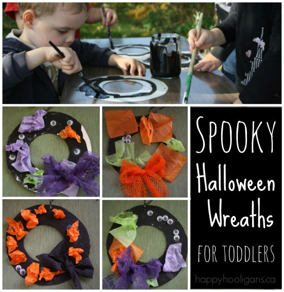 halloween wreaths for toddlers