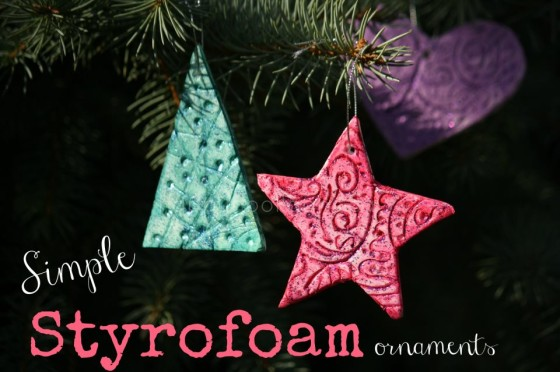 simple styrofoam ornaments