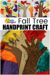 Handprint Fall Tree Craft for Toddlers and Preschoolers