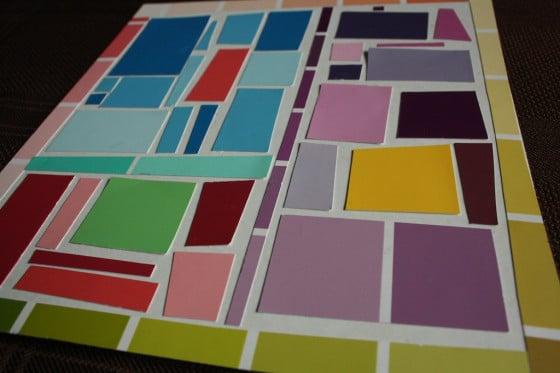 Paint Chip Mosaics - Creating Art with Paint Samples - Happy Hooligans
