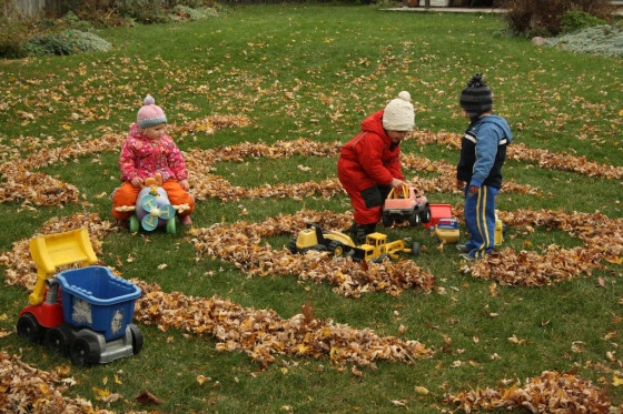 fall maze for play