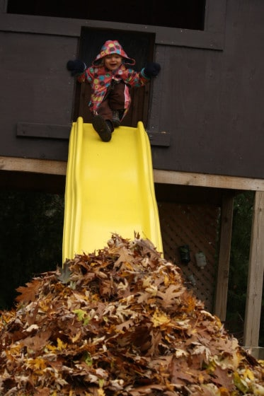 Leaf Slide – an Awesome Fall Activity for Kids