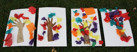 tissue paper fall crafts
